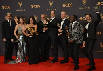 Gary Cole, Clea DuVall, Anna Chlumsky, Julia Louis-Dreyfus, Kevin Dunn, Tony Hale, Matt Walsh, Sam Richardson, and Reid Scott win awards at the 69th Primetime Emmy Awards in Los Angeles
