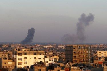Israel Attacks Gaza as Troops Remain