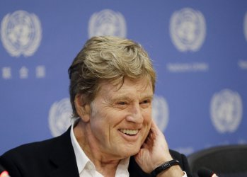 Robert Redford speaks on climate change at the UN