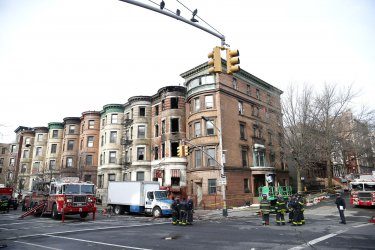 Firefighter dies at filming location building fire in Harlem