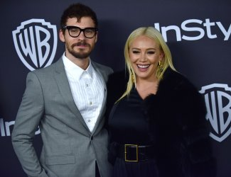Hilary Duff attends Instyle/Warner Bros. Golden Globes party