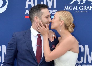 Tyler Rich and Sabina Gadecki attend the Academy of Country Music Awards in Las Vegas