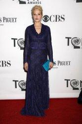 Ellen Barkin arrives for the 2012 Tony Awards in New York