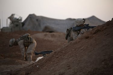 U.S. Marines conduct artillery strikes against ISIS in Syria