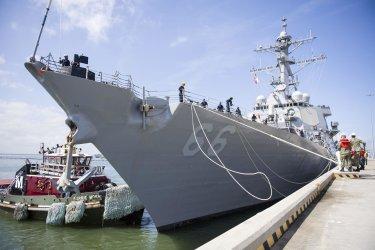U.S. Navy Ships Evacuate Naval Station Norfolk Ahead of Hurricane Florence