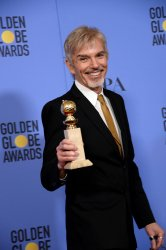 Billy Bob Thornton wins the Best Performance by an Actor in a Television Series - Drama award at the 74th annual Golden Globe Awards in Beverly Hills