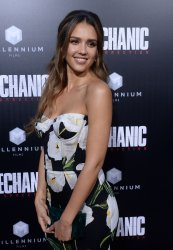 "Jessica Alba attends the ""Mechanic: Resurrection"" premiere in Los Angeles"