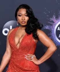 Megan Thee Stallion attends American Music Awards in LA