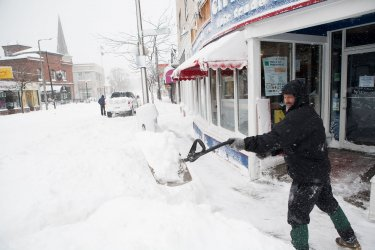 Boston Hit with Two Feet of Snow