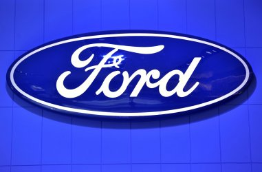 Ford logo displayed at NAIAS in Detroit