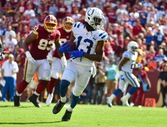 Colts wide receiver T.Y. Hilton scores