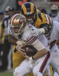 49ers Beathard and team smothered by LA Rams