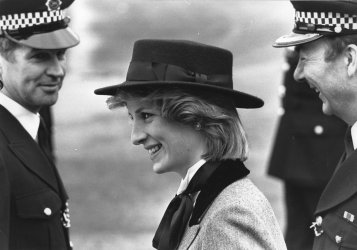 Princess Diana visits Metropolitan Police Training Establishment in Hendon