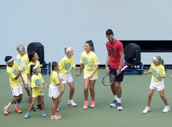 Novak Djokovic at the 2019 Arthur Ashe Kids day at the US Open