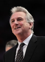 Sacramento Kings head coach Paul Westphal at Madison Square Garden in New York