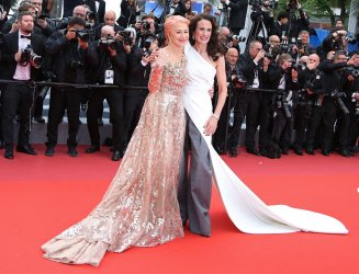 Helen Mirren and Andie MacDowell attend the Cannes Film Festival