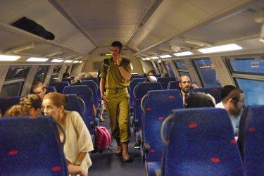 Israelis Sit On The New Jerusalem Fast Train