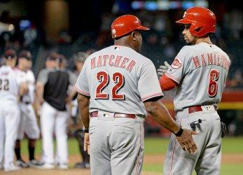 Reds' Hamilton and Hatcher meet