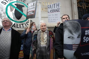 Free Julian Assange Demo in London