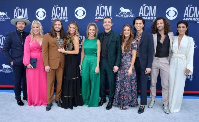 Jared Hampton, Tripp Howell, Brandon Lancaster, Chandler Baldwin and Eric Steedly attend the Academy of Country Music Awards in Las Vegas