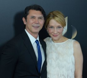 Lou Diamond Phillips and Yvonne Boismier Phillips attend the Hollywood Film Awards in Beverly Hills