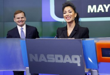 Nicole Scherzinger and Men in Black III Ring the Opening Bell  at the Nasdaq in New York