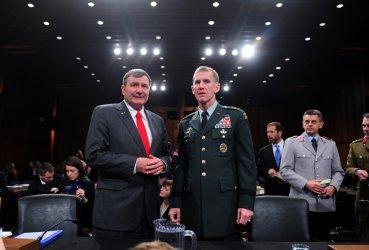 Gen. Stanley McChrystal and U.S. Ambassador to Afghanistan Karl Eikenberry testify in Washington