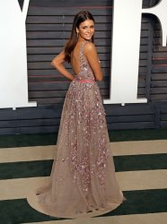 Nina Dobrev arrives at the Vanity Fair Oscar Party in Beverly Hills