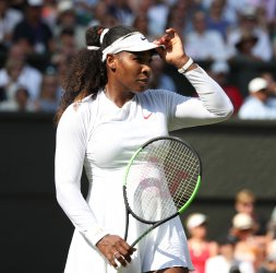 Serena Williams versus Kristina Mladenovic at Wimbledon Day Five