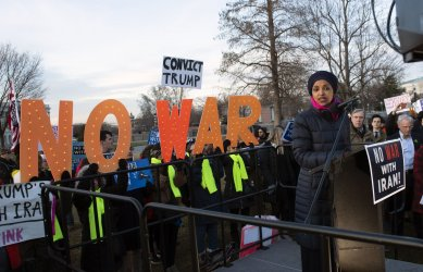 Rep. Omar speaks out against Trump and Iran War on Capitol Hill