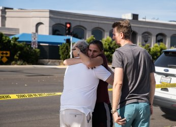 Afermath of Shooting at Synagogue Near San Diego