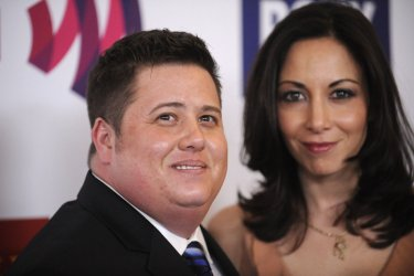 Chaz Bono and guest attend the 22nd annual GLAAD Media Awards in Los Angeles