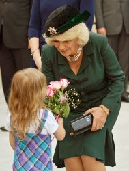 Camilla, Duchess of Cornwall, attends a Commemorative Military Muster in Toronto during the 2012 Royal Tour of Canada