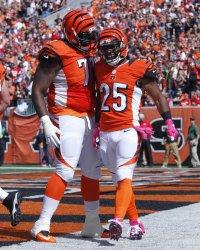 Cincinnati Bengals Giovani Bernard celebrates touchdown