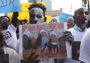 African Reguees Protest Israel's Plan Of Forced Deportation