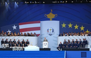 Jim Furyk at the Ryder Cup 2018 Opening Ceremony