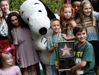 Snoopy gets a star on the Hollywood Walk of Fame in Los Angeles