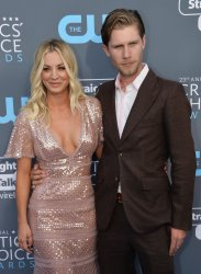 Kaley Cuoco and Karl Cook attend the Critics' Choice Awards in Santa Monica
