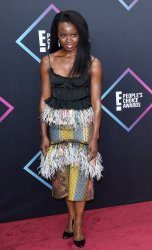 Danai Gurira attends the 44th annual E! People's Choice Awards in Santa Monica, California