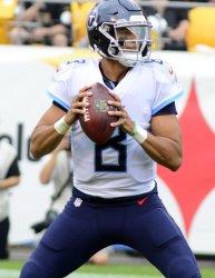 Titans Quarterback Marcus Mariota in Pittsburgh