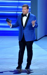 James Corden appears onstage during the 70th annual Primetime Emmy Awards in Los Angeles
