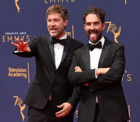 Jay Duplass and Mark Duplass attend the Creative Arts Emmy Awards in Los Angeles