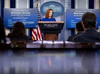 White House Press Secretary Jen Psaki Holds First Press Briefing