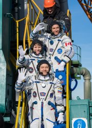 Expedition 58 Crew Members Launch Aboard the Soyuz MS-11 to the ISS