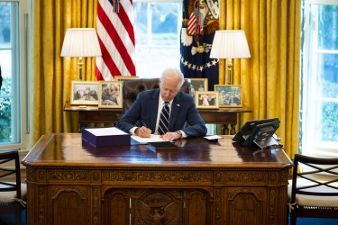 Biden Signs the America Rescue Plan at the White House