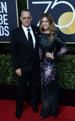 Tom Hanks and Rita Wilson attend the 75th annual Golden Globe Awards in Beverly Hills