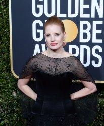 Jessica Chastain attends Golden Globe Awards