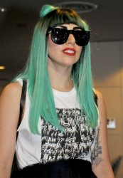 Singer Lady GAGA leaves Japan