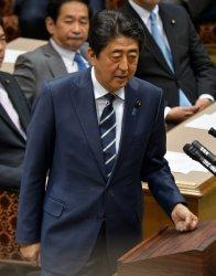 Parliamentary debate between party leader in Japan