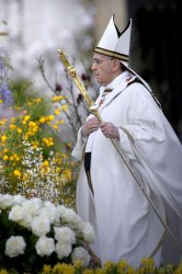 Pope Francis celebrates Easter mass in the Vatican